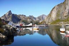 Fishing Village Reine Lofoten Norway stock image
