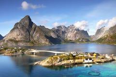 Fishing Village Reine Lofoten Norway Stock Images