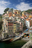 Fishing village Riomaggiore Royalty Free Stock Images