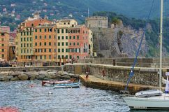 Fishing Village on the Riviera Royalty Free Stock Images