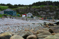 Fishing village on the sea shore Royalty Free Stock Photos