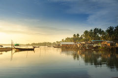 Fishing village on sea Stock Photo