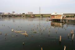 Fishing village shack in amoy city Stock Photos