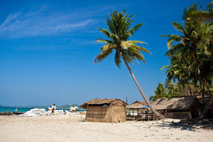 Fishing village of SinMa off the west coast of Mya Royalty Free Stock Image