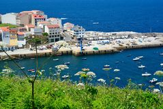 Fishing village in Spanish littoral Royalty Free Stock Photos