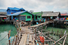 Fishing village on stilts of Bang Bao Stock Images