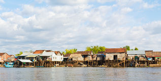 Fishing Village on stilts Cambodia Stock Photography