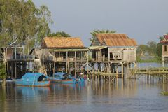 Fishing Village on Stilts Royalty Free Stock Images