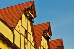 Fishing village - stylization german architecture 19th century. Stock Image