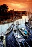 Fishing Village at Tanjung Piai Stock Photos