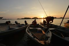 Fishing Village at Teluk Intan. Perak, Malaysia. Popular place for fishing Royalty Free Stock Photo