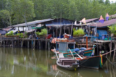 Fishing village.Thailand. Stock Image