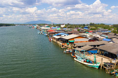 Fishing village in Thailand Royalty Free Stock Photography
