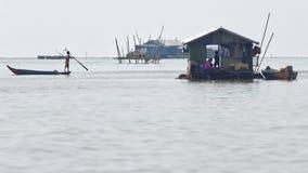 Fishing village, Tonle Sap, Cambodia Royalty Free Stock Image