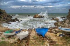 Fishing village Tyulenovo, Bulgaria Stock Photos