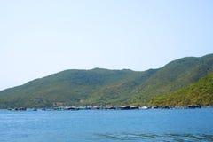 Fishing village on the water Vietnam Royalty Free Stock Photo