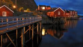 Fishing village and wharfs Stock Image