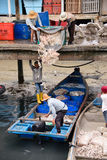 Fishing Village work life, culture in Asia Royalty Free Stock Images