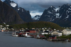 Fishing villages in Lofoten - norway Royalty Free Stock Image