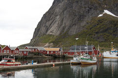 Fishing villages in Lofoten - norway Stock Image