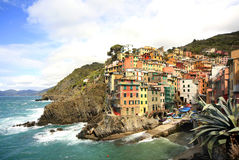 Fishing Villiage of Riomaggiore, Italy, Stock Images