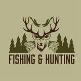 fishing vintage emblem vector design template Stock Photo