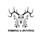 Fishing vintage emblem vector design template Royalty Free Stock Image