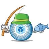 Fishing webpack coin mascot cartoon. Vector illustration Royalty Free Stock Photos