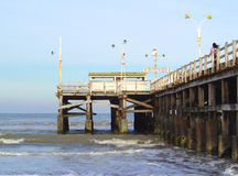 Fishing wharf. Lateral view of a Fishing wharf, at San Clemente, Argentina Stock Images