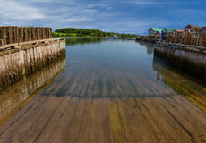 Fishing Wharf Boat Slip Royalty Free Stock Images