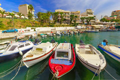 Fishing wharf in Chania, Crete, Greece Stock Images