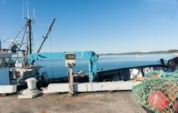 Fishing wharf, Tauranga. Royalty Free Stock Image