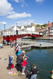Fishing in Whitby royalty free stock images