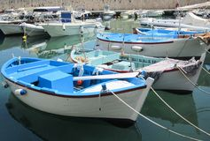 Fishing wooden boats royalty free stock photos