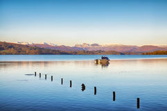Fishing on Windermere Stock Image