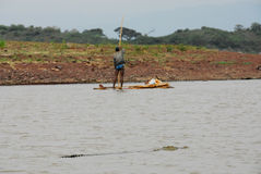 Fishing With Crocodiles, Chamo Lake (Ethiopia) Stock Image
