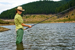 Fishing for woman 2 Royalty Free Stock Photo