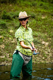 Fishing for woman 3 Stock Photography