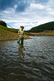 Fishing for woman Royalty Free Stock Image