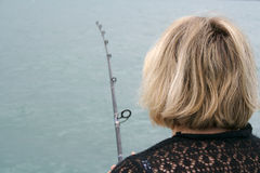 Fishing women Royalty Free Stock Photos
