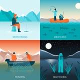 Fishing 2x2 Design Concept Stock Photo