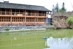 Fishing in Xidi Village Royalty Free Stock Images