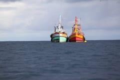 Fishingboat deux Image libre de droits