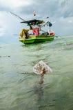 Fishingboat et ancre Image stock