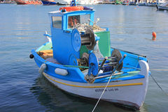 Fishingboat greco Immagine Stock