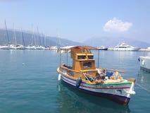 Fishingboat greco Fotografie Stock