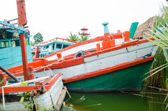 Fishingboat molder. Not workability in the water Royalty Free Stock Photography