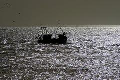 Fishingboat sul chanel inglese Fotografie Stock Libere da Diritti