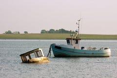 老fishingboats 图库摄影