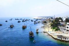 Fishingboats en Hainan foto de archivo libre de regalías